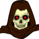 Evil Hooded Skull vector clipart