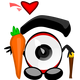 Eyeball and Carrot Love Vector Clipart