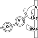 Fair Wage Breaking Poverty Shackles Vector Clipart