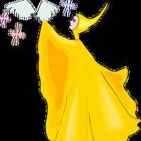 Fairy in Golden Robe vector Clipart