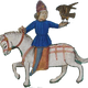 Falconer on Horseback vector clipart