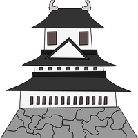 Far Eastern Building Japanese Castle Vector Clipart