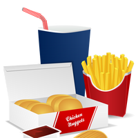 Fast Food Meal vector clipart