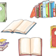 Hand Drawn Books Vector Clipart