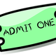 Movie Ticket Vector Clipart