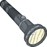 Flashlight Vector Art