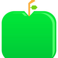 Flat Green Apple Vector Clipart