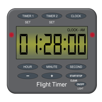 Flight Timer Vector Clipart