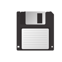 Floppy Disk 3.5 Vector Clipart