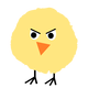 Fluffy Yellow Chicken Vector Clipart