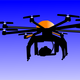 Flying Drone Vector Clipart