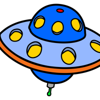 Flying Saucer UFO vector clipart