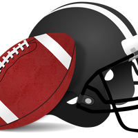 Football and Helmet vector file