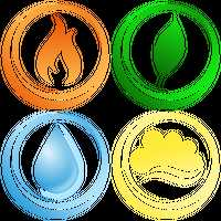 Four Elements Vector Graphic