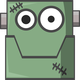 Frankenstein Robot head Vector Clipart