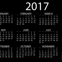 Full 2017 Calendar vector file