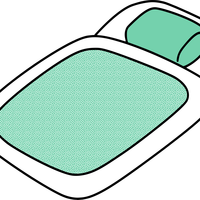 Futon Bed vector clipart