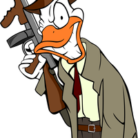 Gangster Crime Duck Vector Clipart