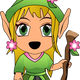 Girl Elf Vector Clipart