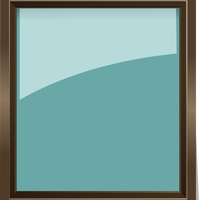 Glass Picture Frame Vector Clipart