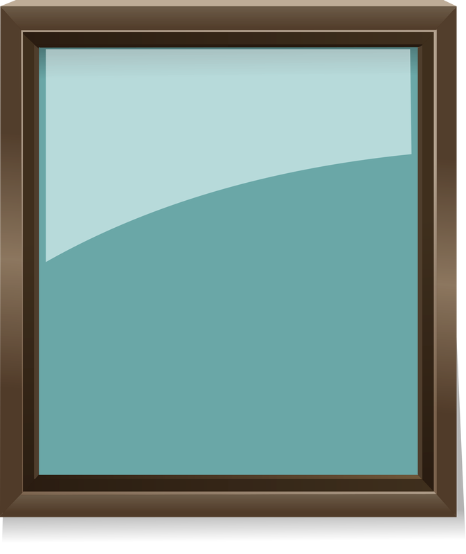 Glass Picture Frame Vector Clipart image - Free stock ...