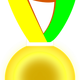 Gold Medal Vector Clipart