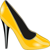 Gold Shoe Vector Clipart