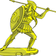 Golden Hoplite Warrior vector clipart