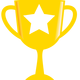 Golden Trophy with white Star vector file