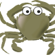 Gray Crab Vector Clipart