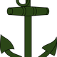 Green anchor vector clipart
