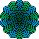 Green and Blue Mandala vector clipart
