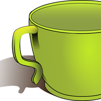 Green Cup Vector Clipart