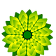Green Digital Flower Vector Art