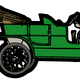Green Ford Model T Vector Clipart