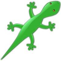 Green Gecko Lizard Vector Clipart