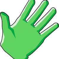 Green Glove Vector Clipart