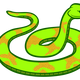 Green Snake Vector Clipart