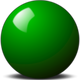 Green Snooker Ball vector clipart