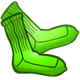 Green Socks Vector Clipart