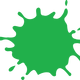 Green Splat Vector Clipart