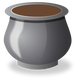 Grey Pot vector clipart
