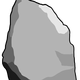 Grey Stone Rock Vector Clipart