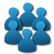 Group of members users icon