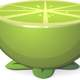 Half of a Green lime Vector clipart