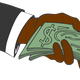Hand Giving Money vector clipart