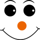 Happy face with orange nose vector file