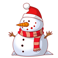 Happy Snowman Vector Clipart