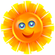 Happy Sun Vector Clipart