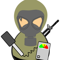 Hazmat Military Worker vector clipart